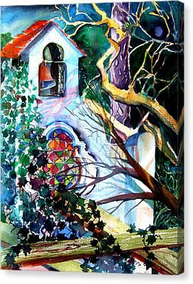 Capri Italy Chapel Canvas Print by Mindy Newman
