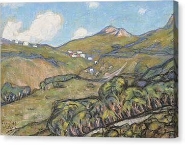 Italian Landscape Canvas Print - Capri Landscape by Ants Laikmaa