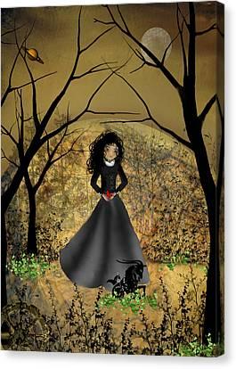 Goth Girl Canvas Print - Capricorn by Charlene Zatloukal