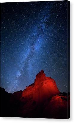 Caprock Canyons October Sky Canvas Print by Stephen Stookey