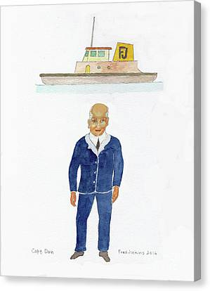 Capt. Don Canvas Print by Fred Jinkins