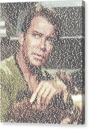 Capt. Kirk Tribble Script Mosaic Canvas Print by Paul Van Scott