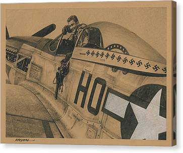 Capt. Raymond H. Littge 1945 Canvas Print by Wade Meyers