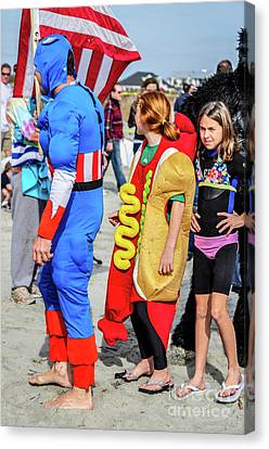 Captain America And The Armour Hotdog Canvas Print
