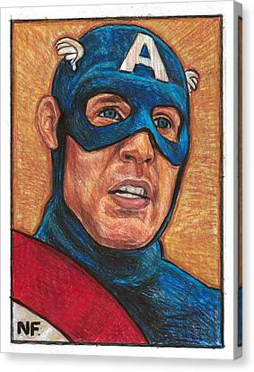 Avengers Canvas Print - Captain America As Portrayed By Actor Chris Evans by Neil Feigeles