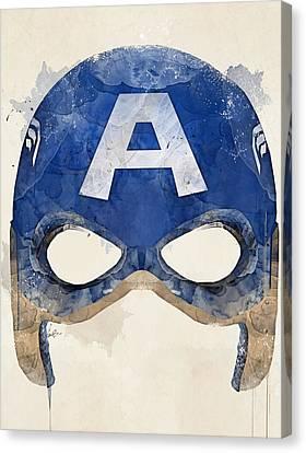 Captain America Canvas Print by Bri B
