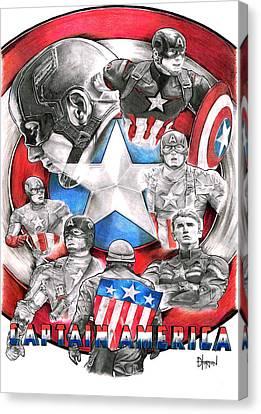 Avengers Canvas Print - Captain America by David Horton