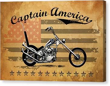 Captain America Canvas Print by Mark Rogan