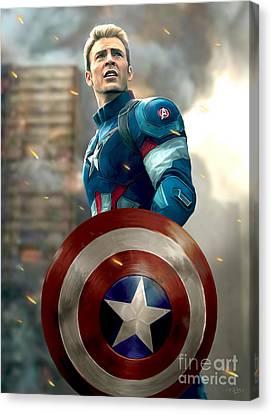Captain America - No Helmet Canvas Print by Paul Tagliamonte