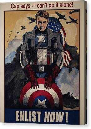 Captain America Recruiting Poster Canvas Print