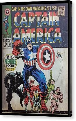 Captain America  Canvas Print by Rob Hans