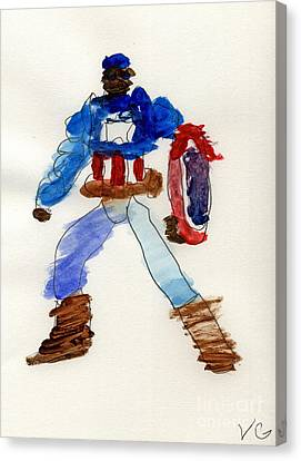 Captain America Canvas Print by Vincent Gitto