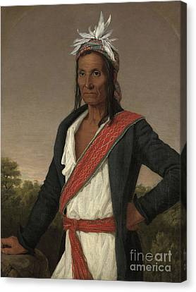 Captain Cole Canvas Print by William John Wilgus