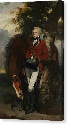 Captain George K. H. Coussmaker  Canvas Print by Joshua Reynolds