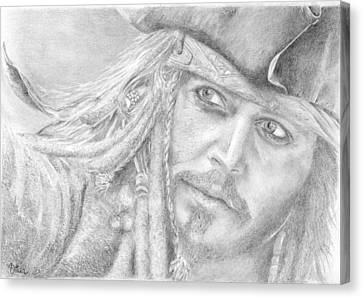Captain Jack Sparrow Canvas Print by Bitten Kari