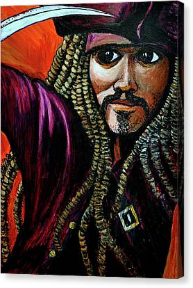 Captain Jack Sparrow Canvas Print by Bob Crawford