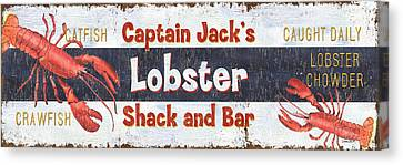 Captain Jack's Lobster Shack Canvas Print by Debbie DeWitt