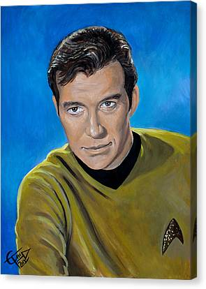 Captain Kirk Canvas Print by Tom Carlton