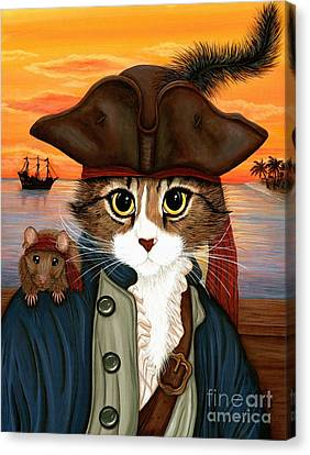 Captain Leo - Pirate Cat And Rat Canvas Print