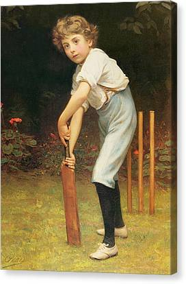 Captain Of The Eleven Canvas Print by Philip Hermogenes Calderon