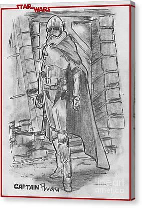 Captain Phasma Canvas Print by Chris  DelVecchio