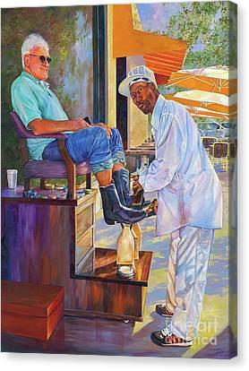 Captain Shoe Shine Canvas Print
