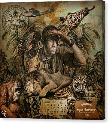 Capt'n Clyde's Safari Adventures Canvas Print by Catherine King