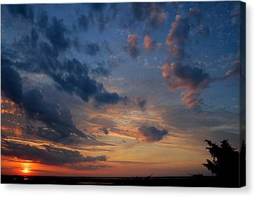 Captree Sunset Canvas Print by Christopher Kirby