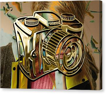 Capture Camera Collection Canvas Print by Marvin Blaine