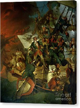 Capture Of Azov Canvas Print by Sir Robert Kerr Porter
