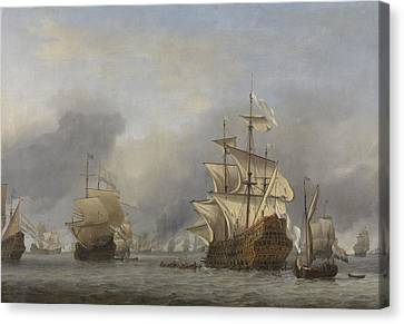 Water Vessels Canvas Print - Capture Of The Royal Prince by Willem Van De Velde The Younger