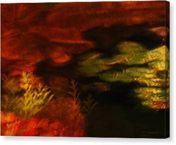 Earth Tones Canvas Print - Captured Light - Lily Pads And Ferns by Kerri Ligatich
