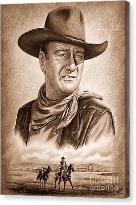 Captured  Ye Old Wild West Edit Canvas Print by Andrew Read