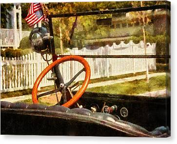 Car - Back To The Old Days Canvas Print by Mike Savad