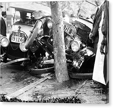 Car Accident, C1919 Canvas Print by Granger