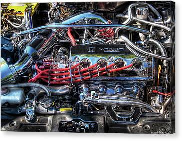 Car - Engine - Car Intestines Canvas Print by Mike Savad