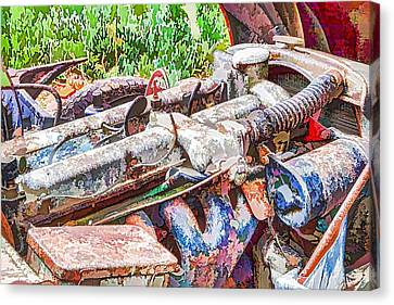 Car Engine Canvas Print by Lanjee Chee