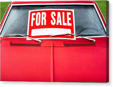 Car For Sale Canvas Print by Todd Klassy