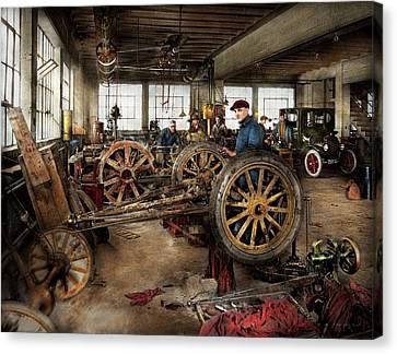 Car - Garage - Blue Collar Work 1923 Canvas Print