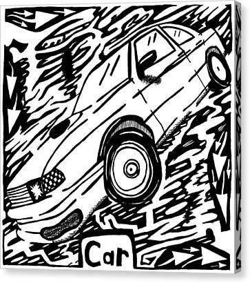 Car Maze  Canvas Print by Yonatan Frimer Maze Artist