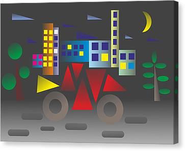 Car Night - My Www Vikinek-art.com Canvas Print