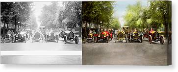 Car - Race - Hold On To Your Hats 1915 - Side By Side Canvas Print