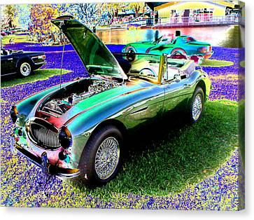 Car Show Canvas Print by Peter  McIntosh
