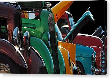 Car Show V Canvas Print by Robert Meanor