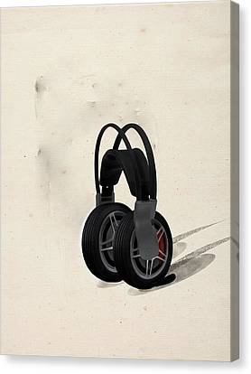Pleasure Driving Canvas Print - Car Stereo by Keshava Shukla