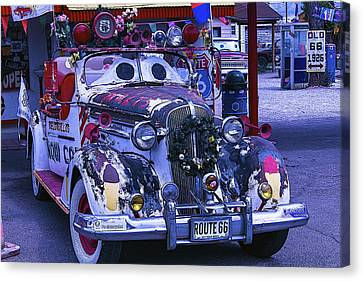 Car With Windshield Eyes Canvas Print