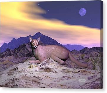 Caracal Or Desert Lynx - 3d Render Canvas Print