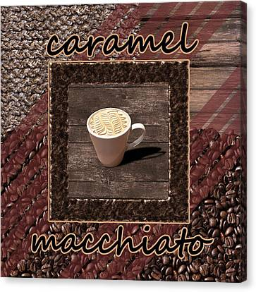 Caramel Macchiato - Coffee Art Canvas Print by Anastasiya Malakhova