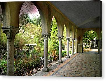 Caramoor Portico Canvas Print by Diana Angstadt