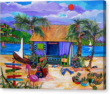 Mango Canvas Print - Cara's Island Time by Patti Schermerhorn